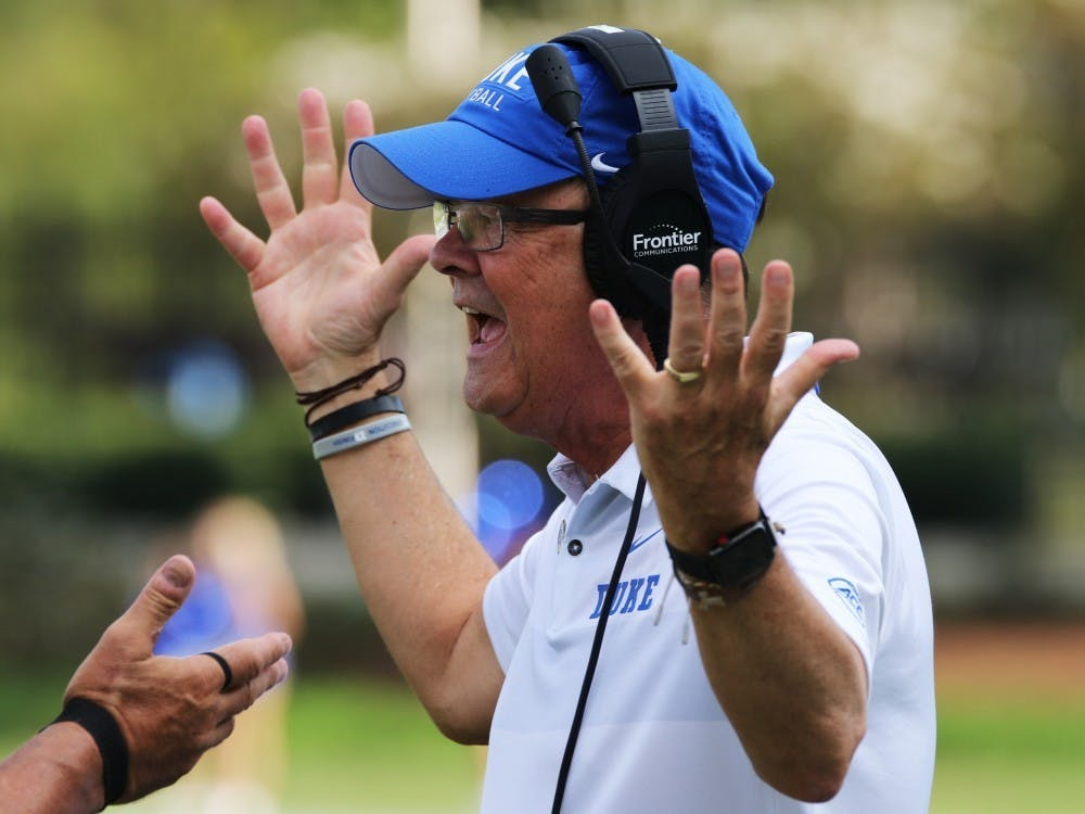 Head coach David Cutcliffe took over play calling duties for Duke this season.
