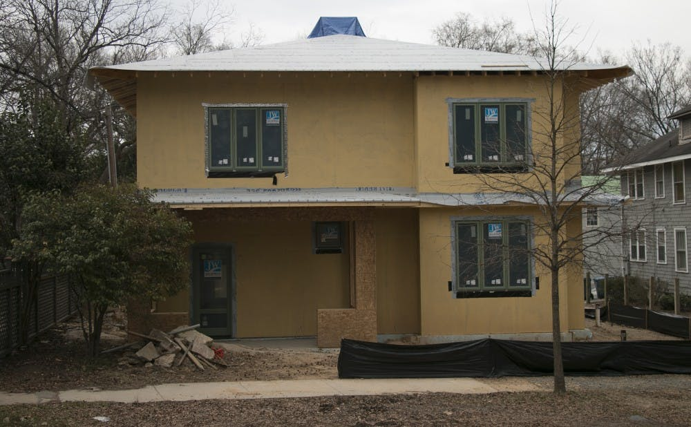 A new house is being built at 610 N. Buchanan Blvd. for the first time since 2010, when the house at the center of the Duke lacrosse case was demolished.