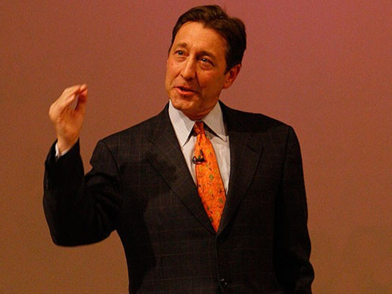 ESPN President George Bodenheimer speaks as a part of Fuqua's Distinguished Speaker Series March 5. In his speech, Bodenheimer described his rise from a mailroom clerk to the sports network's top post.
