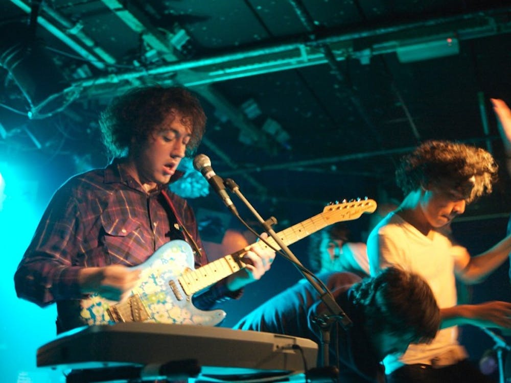 "English rock band The Wombats performs in 2007. They released their fourth studio album, ""Beautiful People Will Ruin Your Life,"" Friday."