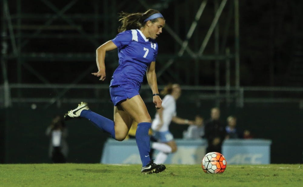 <p>Freshman Taylor Racioppi will attempt to get back on track when the Blue Devils welcome Pittsburgh and No. 15 Notre Dame to Koskinen Stadium beginning Thursday.</p>