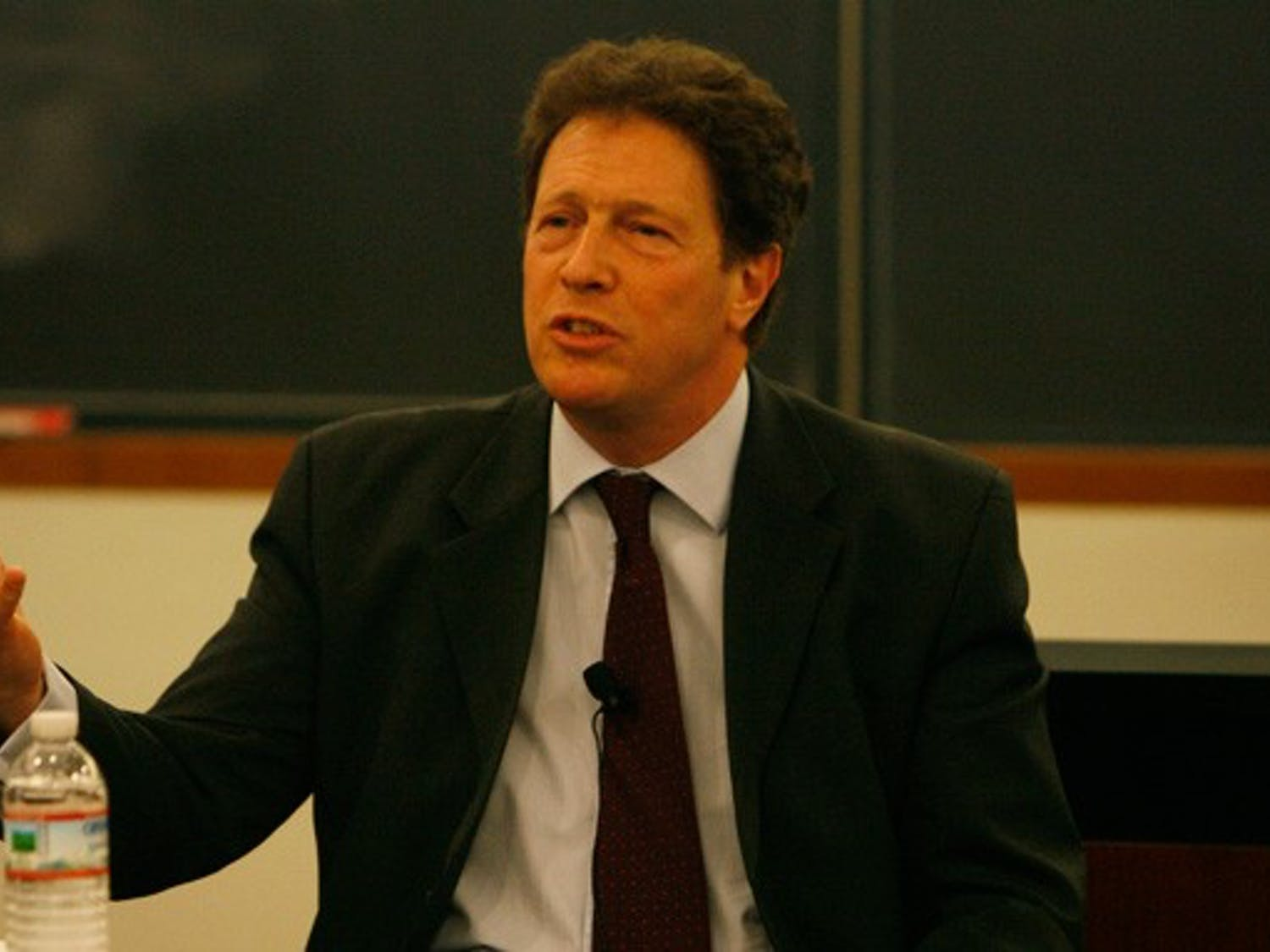 Speaking in the Sanford School of Public Policy Tuesday evening, Sir Nigel Sheinwald, British ambassador to the United States, discussed Great Britain's foreign policy in the Middle East with students and faculty.