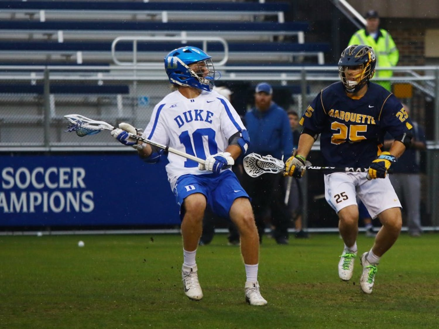 Midfielder Deemer Class was held in check when the Blue Devils played Notre Dame during the regular season, but the All-ACC performer and his teammates are coming off a 16-1 blowout win.