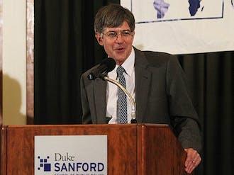 Deputy Secretary of State James Steinberg spoke on international relations at the Sanford School of Public Policy Monday.