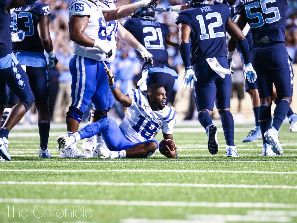 <p>Tension ran high for the Blue Devils after their 20-17 loss to North Carolina Saturday.</p>