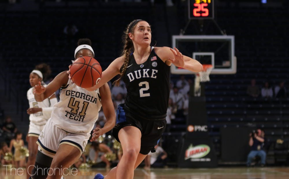 <p>Despite Haley Gorecki's late-game heroics, Duke could not build back enough momentum to earn a win.</p>