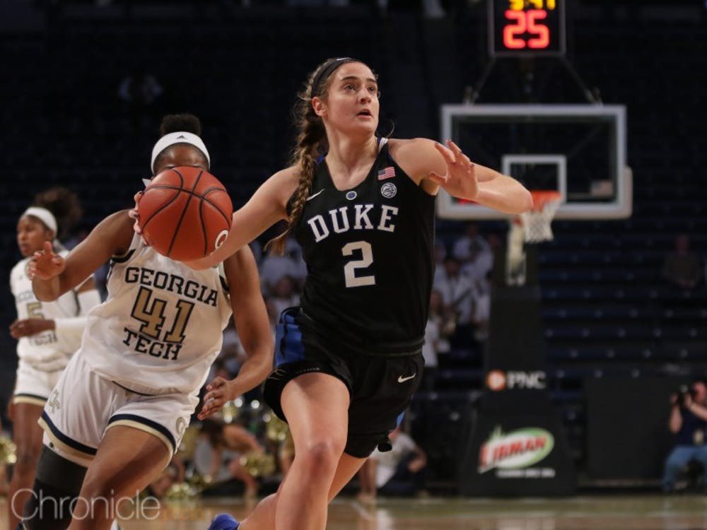 Despite Haley Gorecki's late-game heroics, Duke could not build back enough momentum to earn a win.