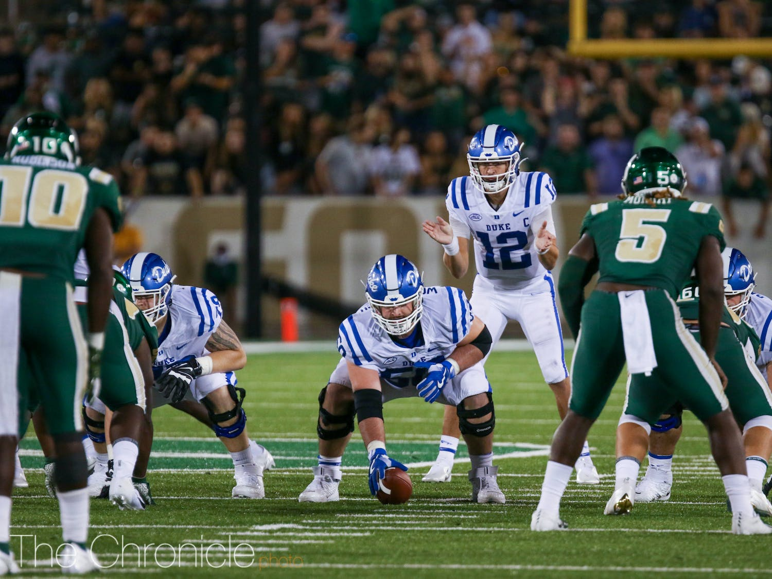 Quarterback Gunnar Holmberg leads the ACC with a 72.5% completion rate.