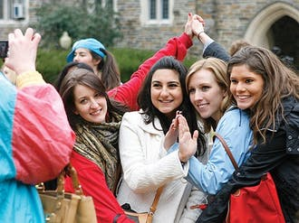Duke's nine Panhellenic Association sororities extended bids to 373 female students.