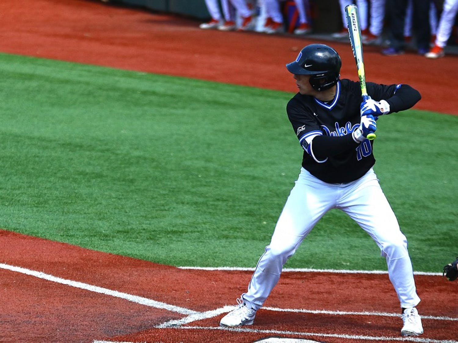 Peter Zyla went 4-for-5 Tuesday night against Davidson as Duke rolled to a 13-3 victory for its eighth win in its last 10 games.
