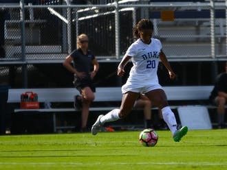 Redshirt senior Mia Gyau played 104 minutes Sunday despite coming into the 2020 campaign with three consecutive season-ending injuries under her belt.