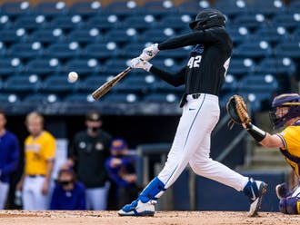 Graduate student Erikson Nichols notched two hits and two RBIs in the game.