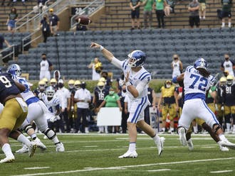Quarterback Chase Brice will need to come out firing in the second half if Duke wants to come out with the win.