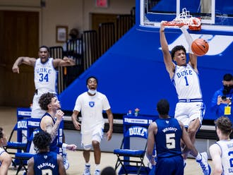 Jalen Johnson's explosive ability has the potential to ignite Duke's offense at any moment.