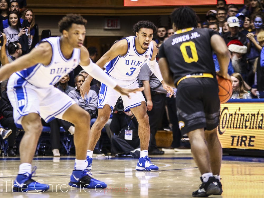 <p>Duke's perimeter defense will be tested Tuesday against Michigan State's explosive backcourt.</p>