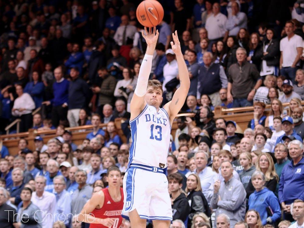 Joey Baker led Duke's bench with nine points against Miami