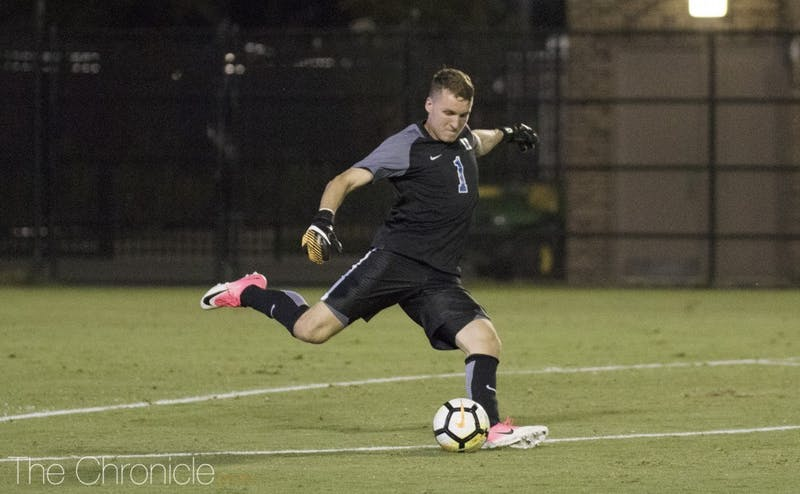 Will Pulisic made a career-high eight saves to help the Blue Devils steal a win at No. 10 Georgetown.