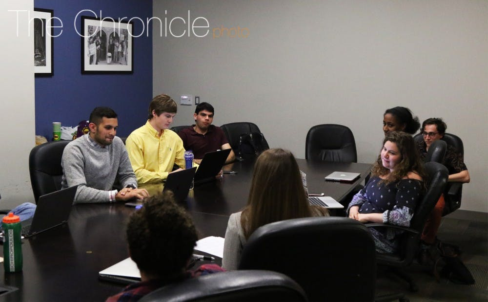 <p>The Duke Student Government Judiciary met to hear a petition from junior Erin Taylor Tuesday evening.&nbsp;</p>