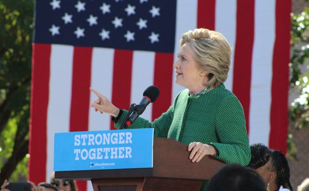 <p>Major political candidates like Hillary Clinton have held events at universities in North Carolina but have not visited Duke.</p>
