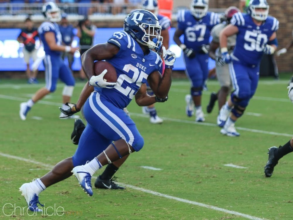 Deon Jackson will need to carry Duke's offense in Brittain Brown's absence.