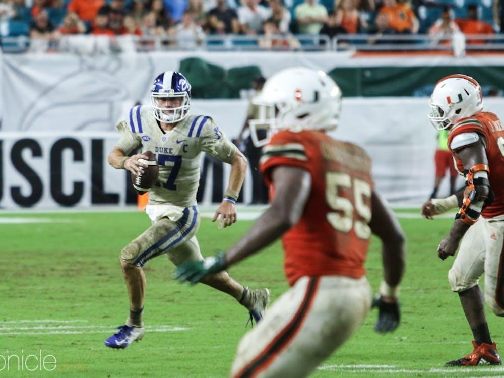 Daniel Jones started under center for three seasons at Duke.