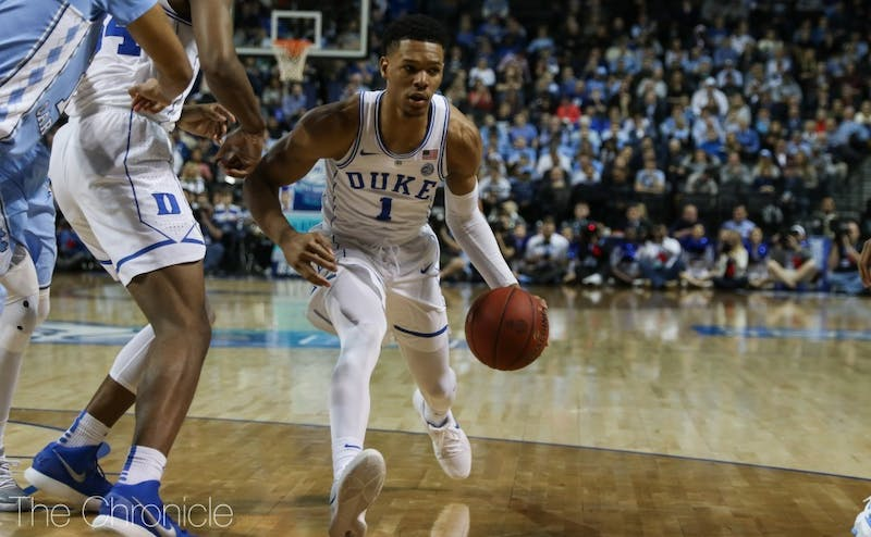 Trevon Duval drilled his first three triples of Thursday's game.