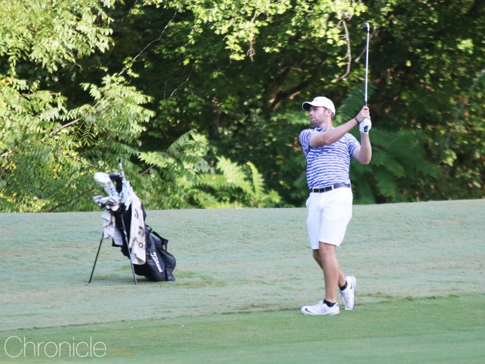 Senior Adam Wood parred the final 12 holes of the tournament to come from behind and earn the individual title Sunday.