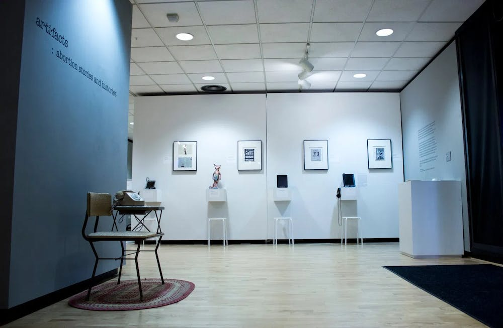 """<p>This semester, the Center for Documentary Studies will be displaying """"Ar·ti·facts: Abortion Stories and Histories,"""" a traveling multi-media exhibition that reveals untold abortion experiences.</p>"""