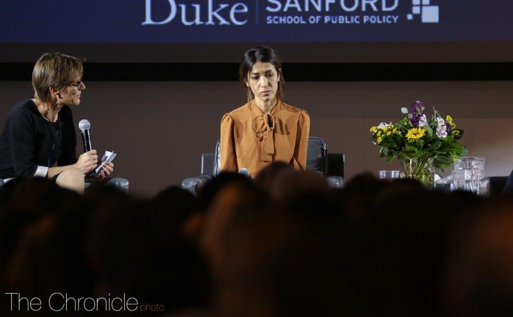<p>Nadia Murad last came to campus in October 2018.</p>