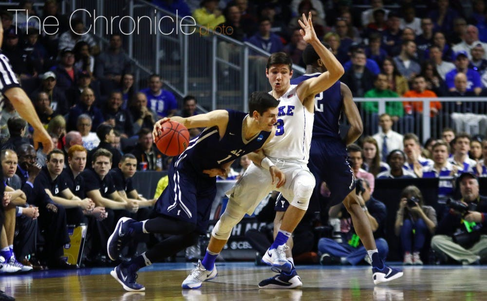 <p>Grayson Allen is one of several Blue Devils who will showcase their skills for NBA scouts during two pro days next month.&nbsp;</p>
