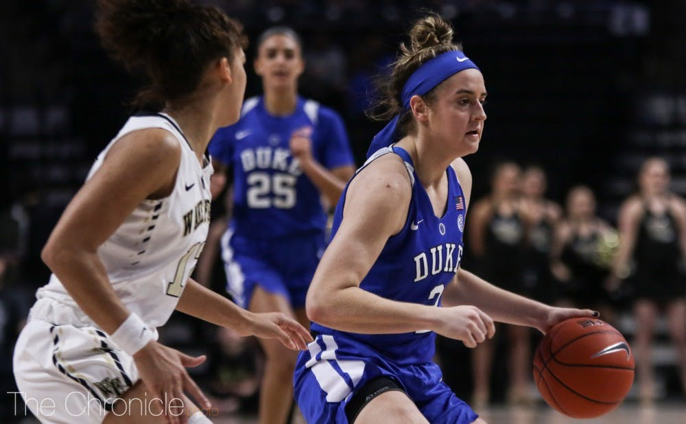 <p>Haley Gorecki hit a pair of clutch free throws in the game's closing minute.</p>
