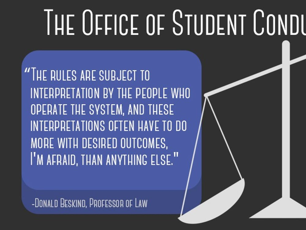 "Four students discussed their issues with the Office of Student Conduct, from inadequate investigations into their cases to a ""guilty until proven innocent"" mindset of the undergraduate conduct boards."