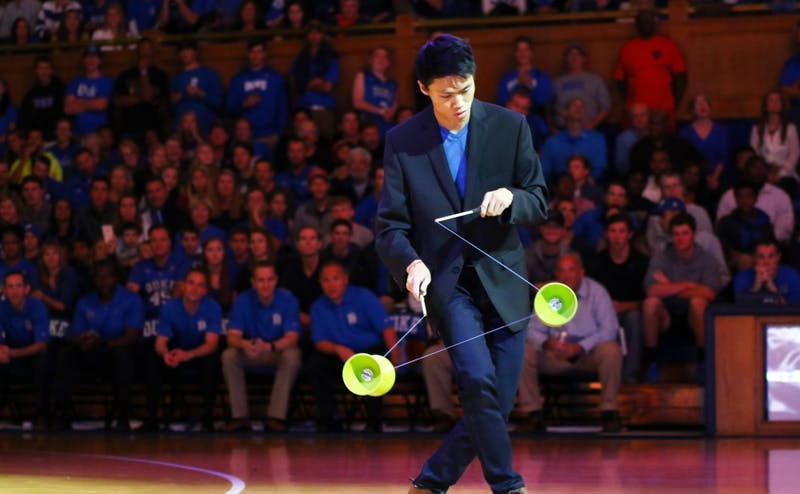 Junior Felix Kung was one of the top student performers Saturday night at Cameron Indoor Stadium, showing off his skills as a yo-yo specialist.