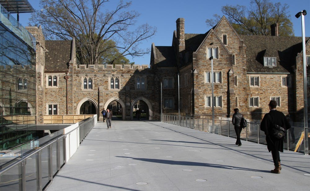 <p>Many students said that the opening of the Bryan Center walkway was convenient for easier access to campus eateries and class buildings.</p>