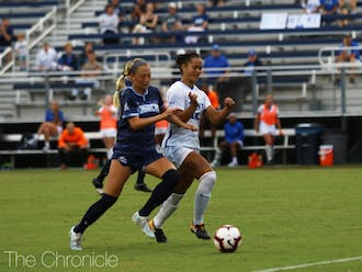 Kayla McCoy scored Duke's lone goal last weekend and scored both of the Blue Devils' goals when they faced Syracuse in 2017.