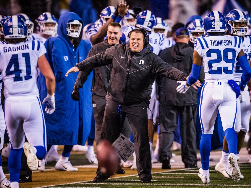 Special teams coach Kirk Benedict is in charge of a unit that figures to be one of Duke's strong suits in 2020.