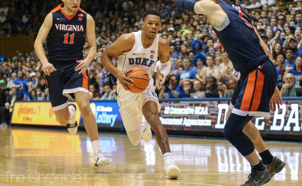 <p>Trevon Duval was not able to propel his team over Virginia last year, as the Cavalier's defense limited him to just six points.</p>