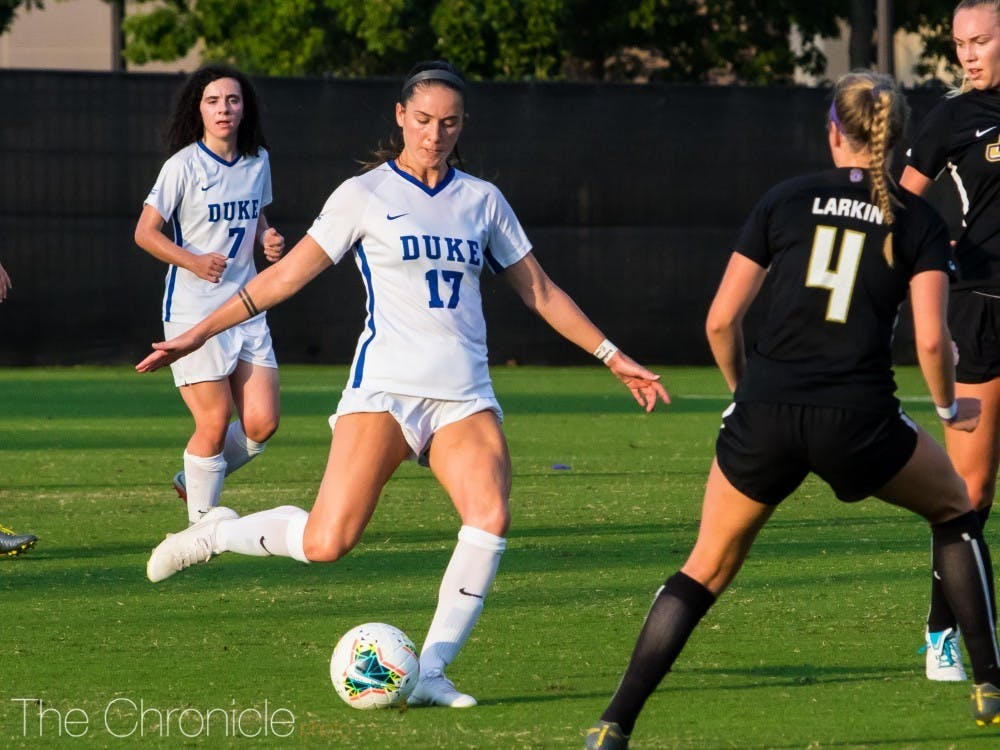 Senior midfielder Ella Stevens scored the first penalty kick of her career Friday, but the Blue Devil defense slipped in the second half.