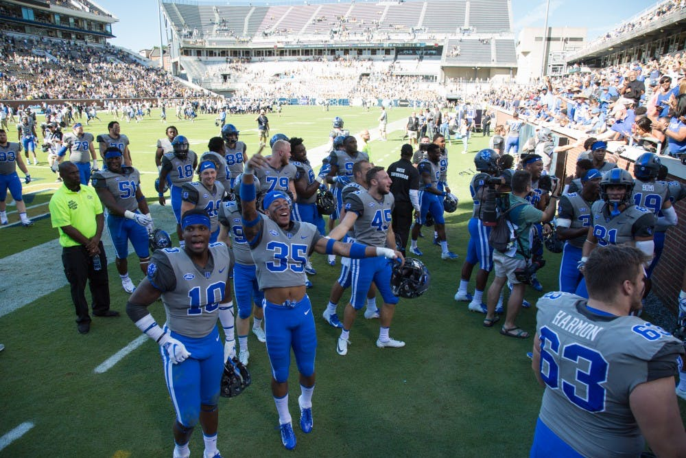 <p>Duke football secured its first conference victory on Saturday.</p>