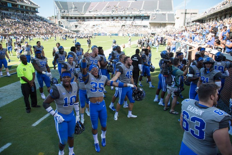 Duke football secured its first conference victory on Saturday.