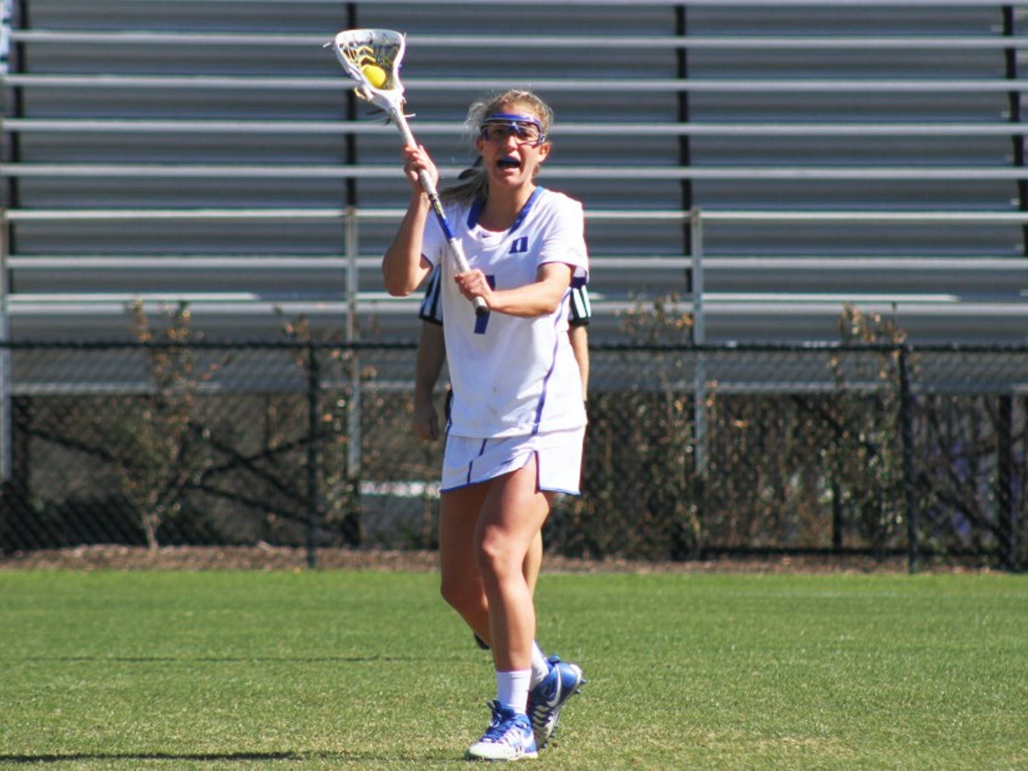 Senior Maddy Acton netted a hat trick Sunday as No. 12 Duke beat No. 16 Pennsylvania.