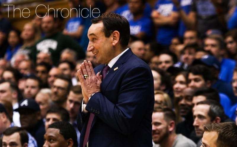 Mike Krzyzewski added his first piece of the 2020 class Wednesday.