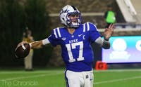 Daniel Jones has seemed overmatched by Virginia in years past.