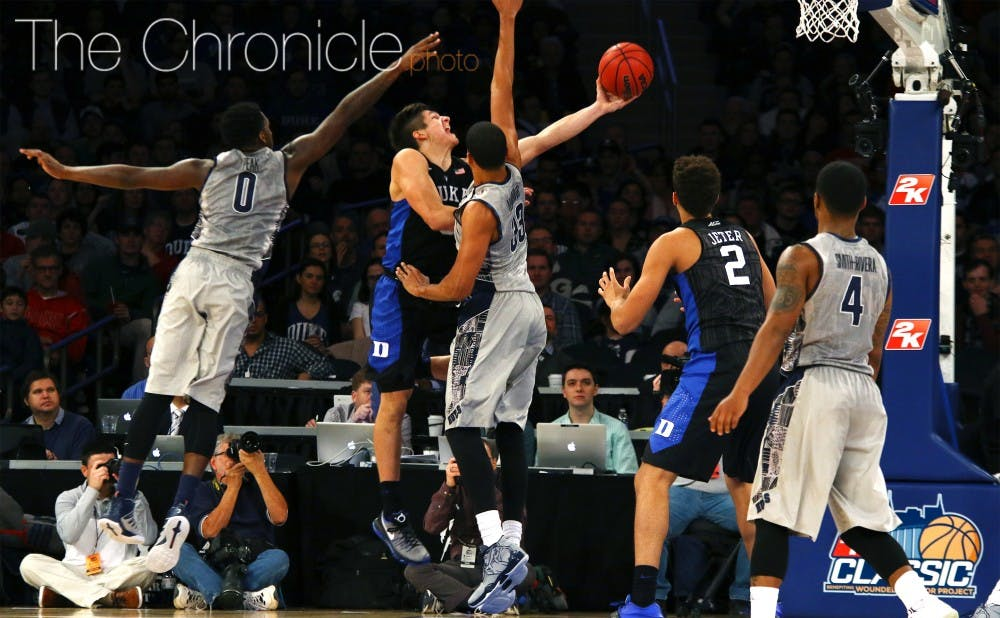 <p>After a 2-of-11 performance against Kentucky Nov. 17, sophomore Grayson Allen immediately changed the narrative with a bounce-back weekend at Madison Square Garden.</p>