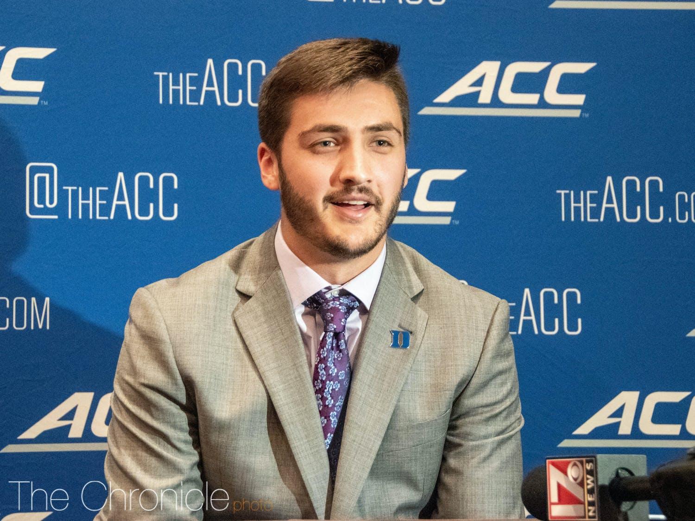 Graduate student Gunnar Holmberg looks to be locked in as Duke's starting quarterback.