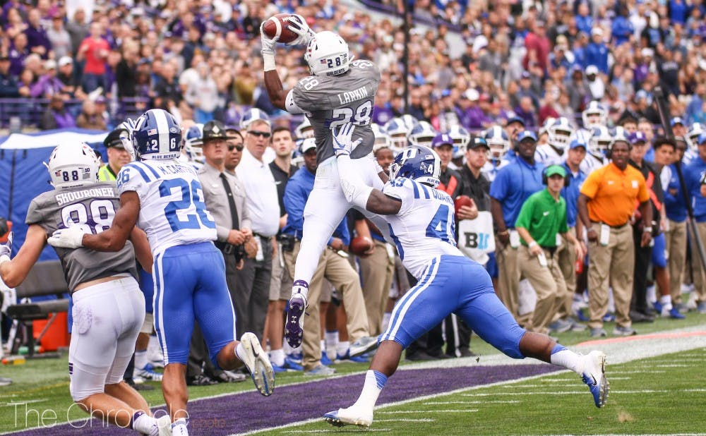 <p>Koby Quansah is one of the players on Duke's defense who will need to step up as a leader this season.</p>