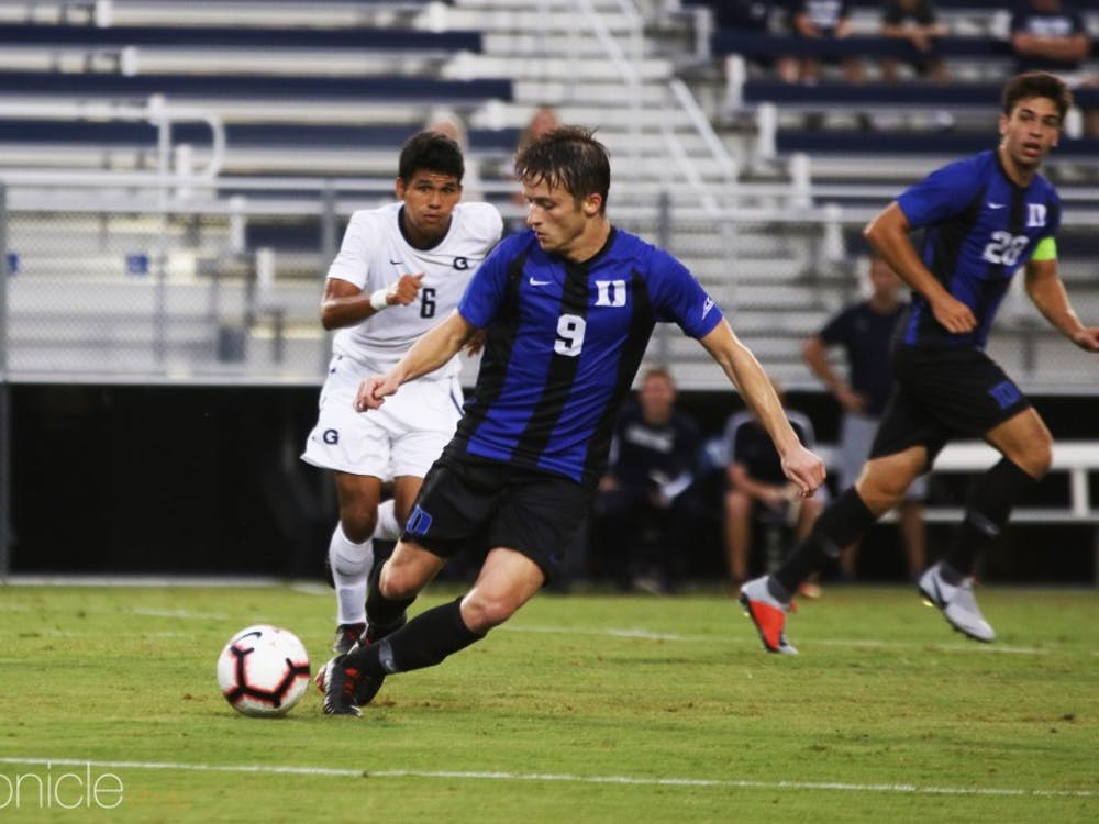 Daniele Proch hit the game winning penalty shot in the 75th minute for Duke.