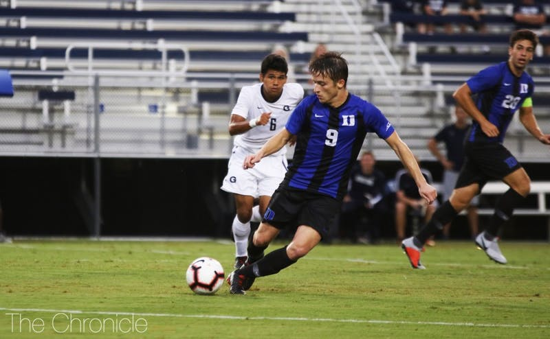 Daniele Proch could not continue his hot start to the season against Georgetown.