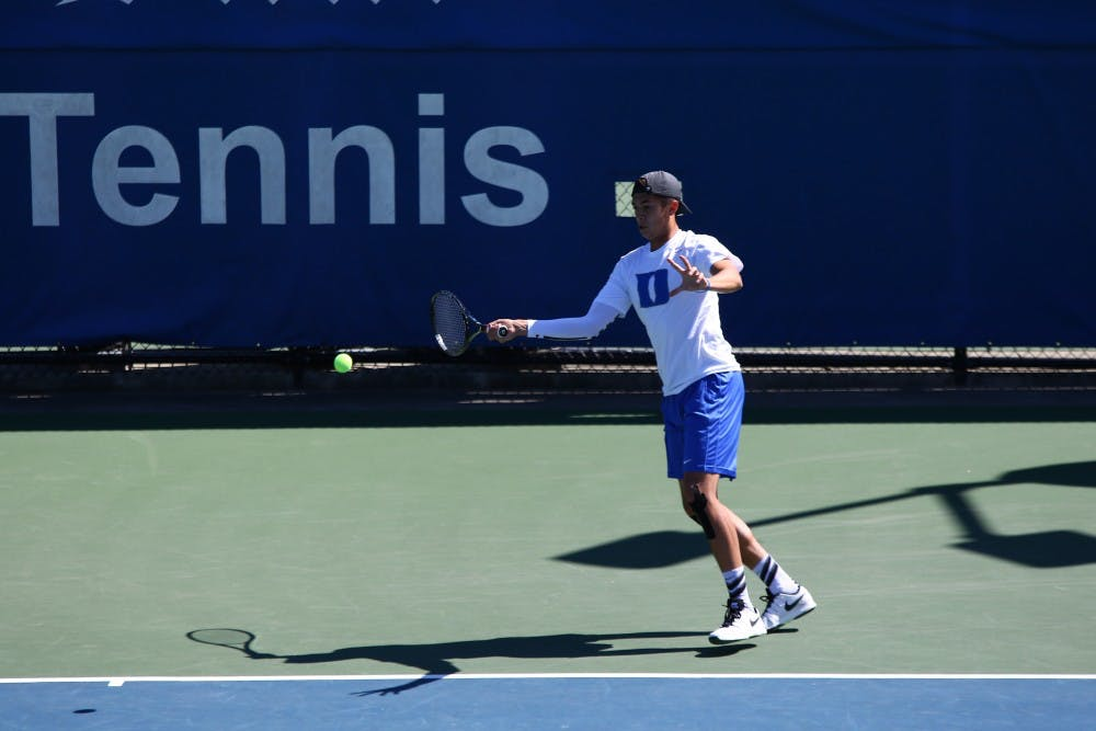 <p>Freshman Jason Lapidus saw his first singles action of the spring but fell in straight sets as the Tigers stormed back from a 3-0 deficit to beat Duke 4-3 Friday at Ambler Tennis Stadium.</p>