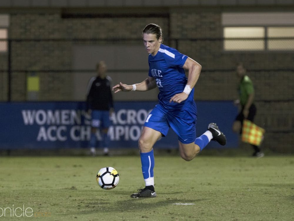 Senior Markus Fjortoft is the anchor for a Blue Devil defense that has fueled the team's undefeated start.